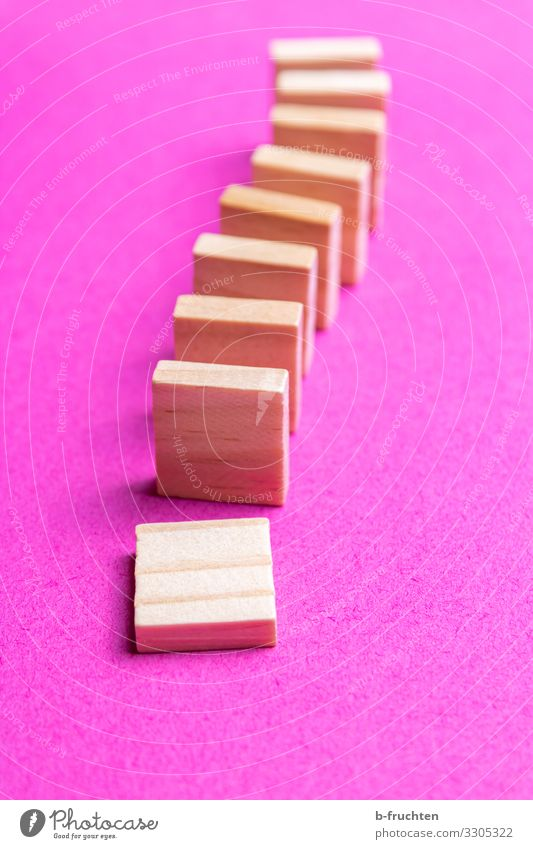 dominoes Education Science & Research School Economy Stock market Business Toys Wood Sign Playing Hip & trendy Pink Chain reaction Domino Kill Movement To fall
