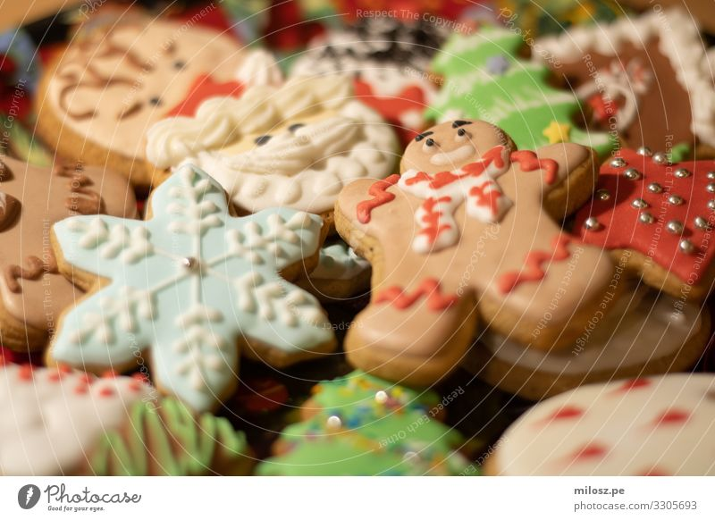 Christmas Cookies Christmas & Advent Winter Food Eating Funny Feasts & Celebrations Exceptional Sweet Fresh Esthetic Happiness Authentic Candy Dessert