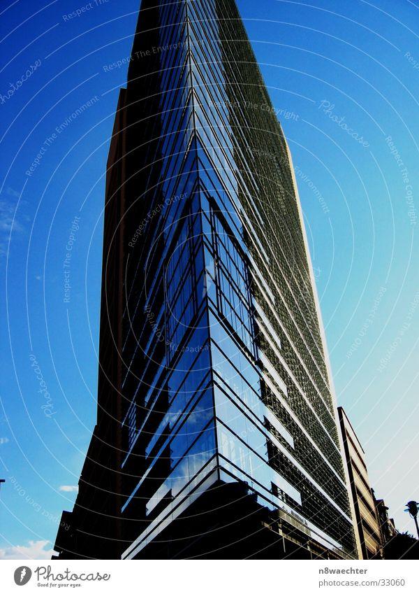 Sky Blue Berlin Architecture High-rise Triangle Glas facade