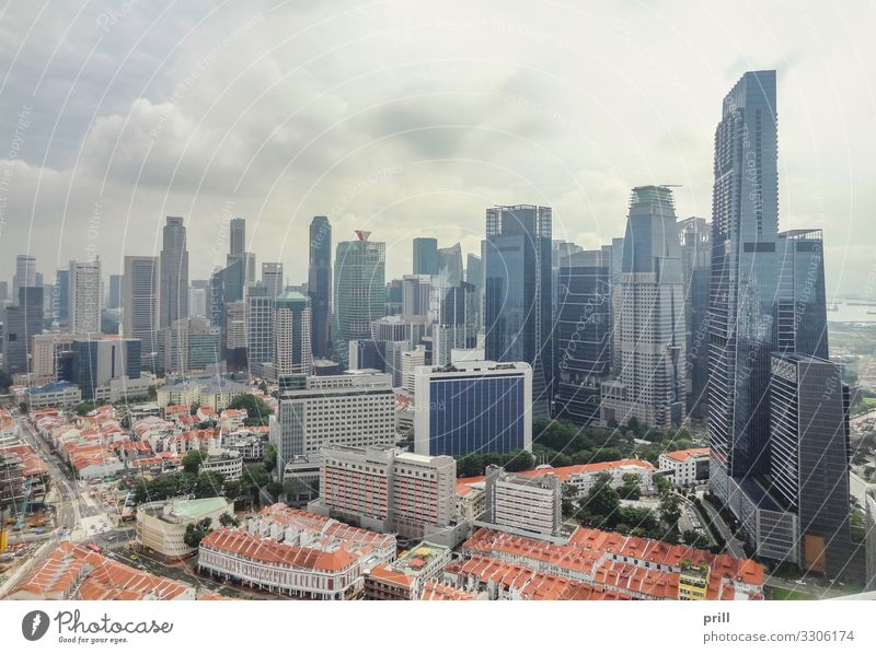 Singapore aerial view Island House (Residential Structure) Culture Town Skyline High-rise Manmade structures Building Architecture Landmark Authentic city-state