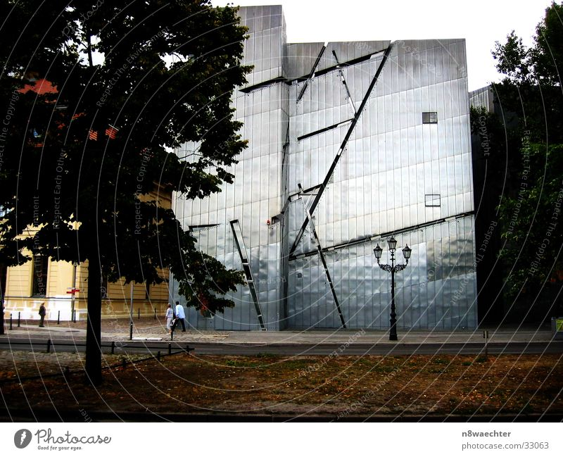 Jewish Museum Berlin Art Light Lantern Tree Leaf Architecture Modern zinc Silver Shadow Daniel Libeskind Past