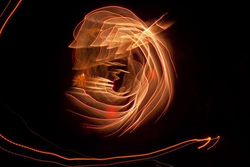 light curl blink Evening Movement Multicoloured Dynamics Fantasy Glittering Art Light Visual spectacle Light writing Light painting Light show Line Fairy tale