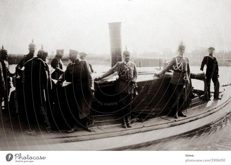 Kaiser-Schmarrn 1917 | Contemporary History emperor Prussia Navy Spiked helmet ship War men Stand group belligerent first world war Coat Uniform Sailor Maritime