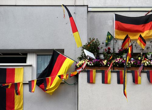 Impaired vision Flag Passion Enthusiasm German black red yellow pennant Balcony Window House (Residential Structure) hang nationalism textile Plastic