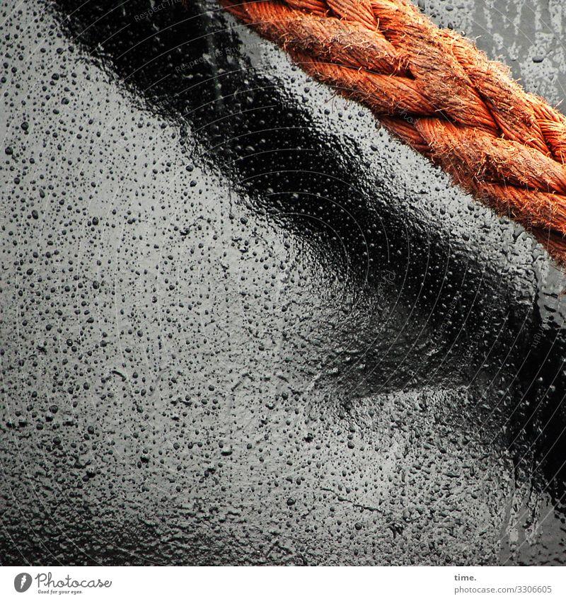 Dark Black Time Orange Gray Watercraft Moody Design Rain Line Metal Esthetic Wet Rope Harbour Network