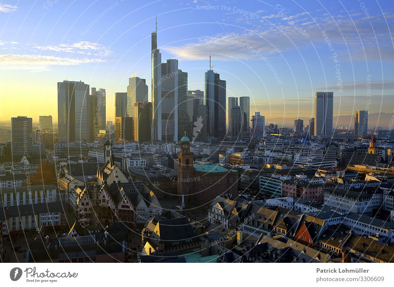 Towers and turrets Workplace Economy Financial Industry Stock market Financial institution Environment Landscape Sky Clouds Sunlight Beautiful weather Frankfurt