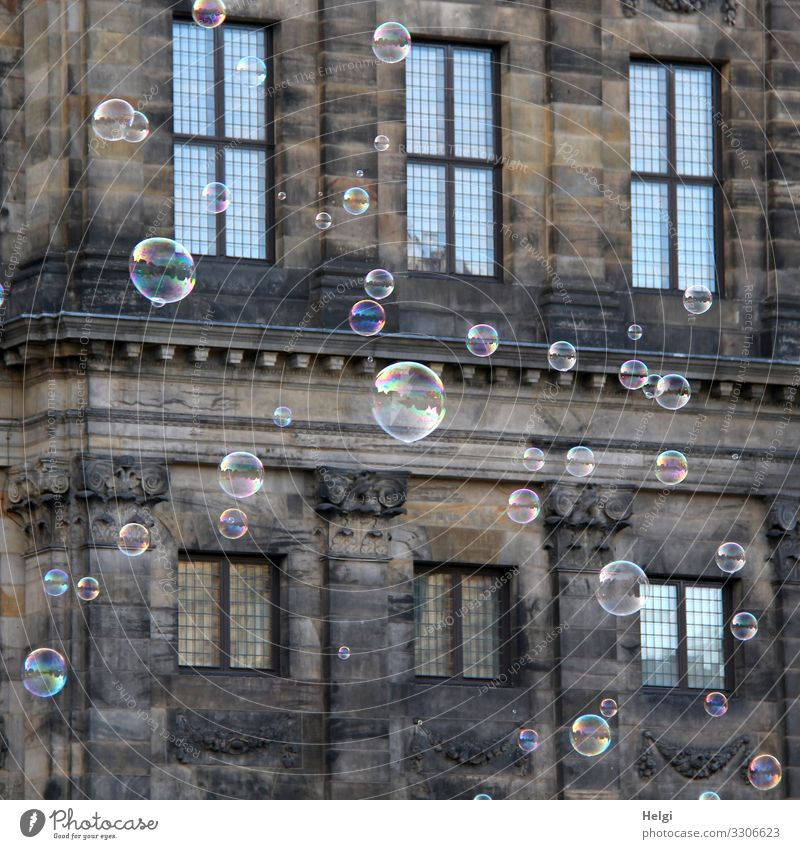 Blue Joy Window Building Tourism Exceptional Brown Facade Gray Flying Trip Stand Uniqueness Historic Manmade structures Soap bubble