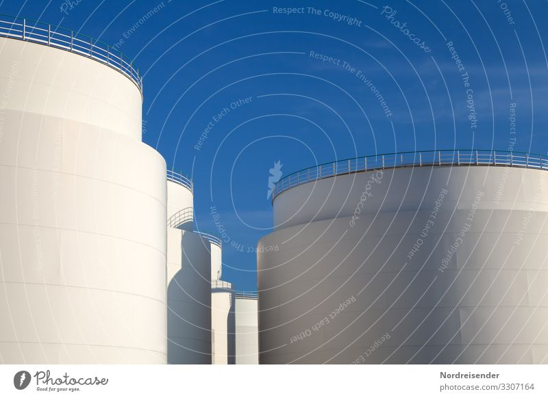 tank farm Work and employment Economy Industry Logistics Energy industry Business Technology Energy crisis Cloudless sky Beautiful weather Industrial plant