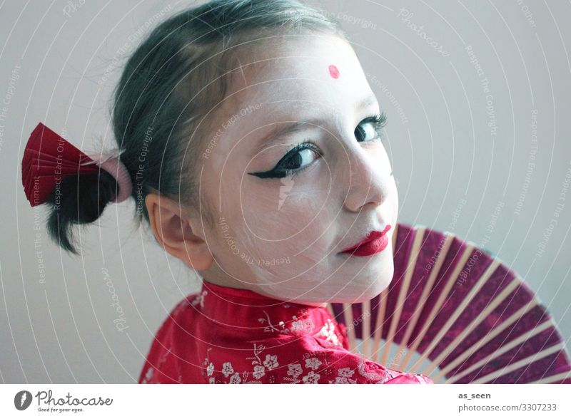 geisha Carnival Parenting Kindergarten Girl Life Face 3 - 8 years Child Infancy 8 - 13 years Fashion Kimono Accessory Colour Guide Brunette Braids Looking
