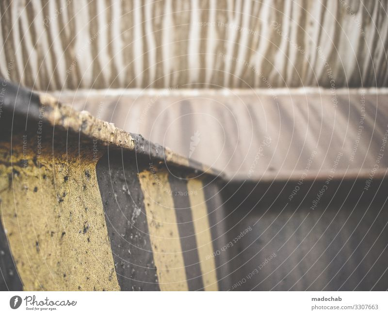 patina Pattern filth Old frowzy Trashy Stripe Rust Decline Structures and shapes Metal Transience Line Detail Abstract Subdued colour Broken Change Bizarre