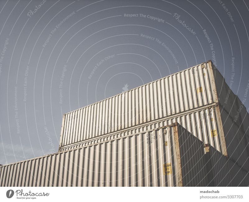 container Logistics Services Packaging Metal Sharp-edged Shopping Container Colour photo Subdued colour Exterior shot Abstract Pattern Structures and shapes
