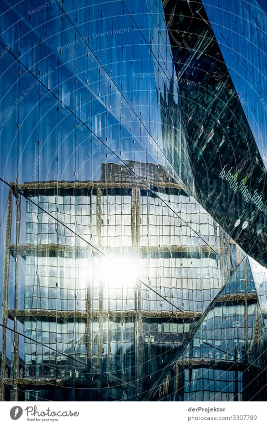 Sunbeams on the cube in Berlin Success Architecture Colour photo Exceptional Copy Space left Copy Space right Capital city Might Vacation & Travel Tourism