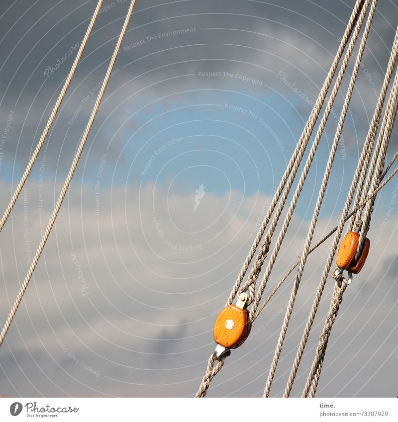 Cable companies #22 Sky Clouds Beautiful weather Gale Navigation Sailing ship Rope On board Coil Pulley Line Hang Threat Dark Maritime Power Trust Safety
