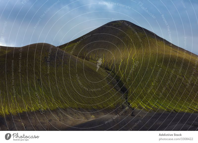 Picturesque landscape of mountain ranges in Iceland scenic majestic ridge colorful nature peak tourism rock beauty high travel panoramic weather geology