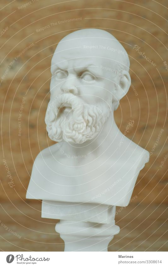 Statue of Socrates,ancient Greek philosopher. Vacation & Travel Tourism Teacher Academic studies Art Culture Architecture Monument Stone Old Think Historic