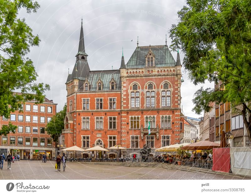 Oldenburg in Germany House (Residential Structure) Culture Town Old town Pedestrian precinct Marketplace City hall Manmade structures Building Architecture
