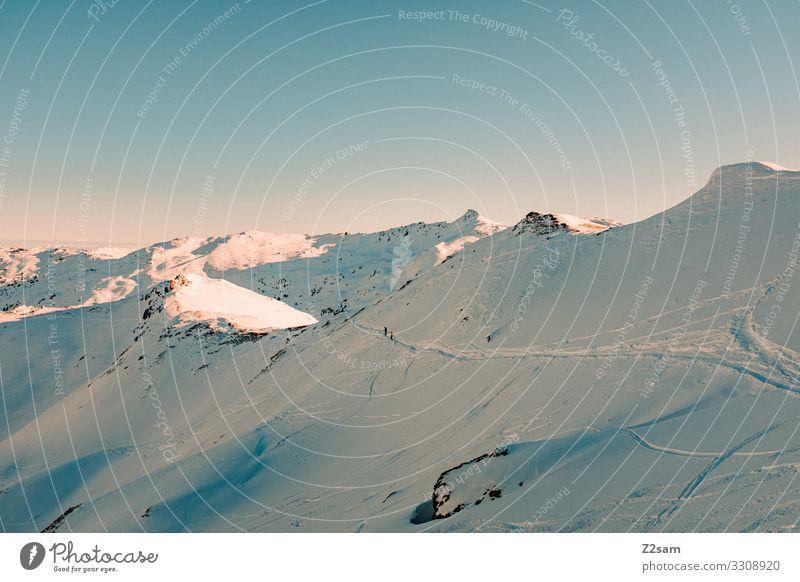 Hochfügen | Zillertal Nature Landscape Cloudless sky Sun Winter Beautiful weather Snow Alps Mountain Snowcapped peak Gigantic Cold Natural Blue Adventure