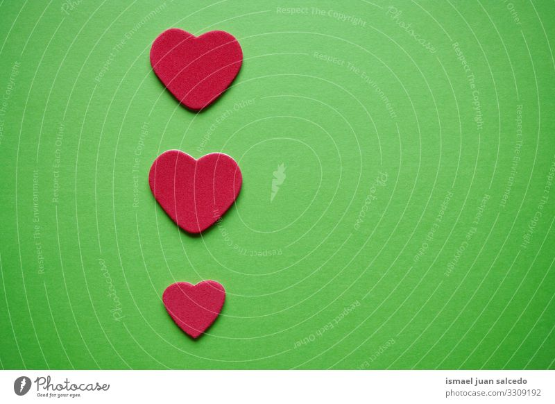 red hearts decoration for valentine's day Colour Green Red Background picture Love Emotions Feasts & Celebrations Design Decoration Heart Gift Romance