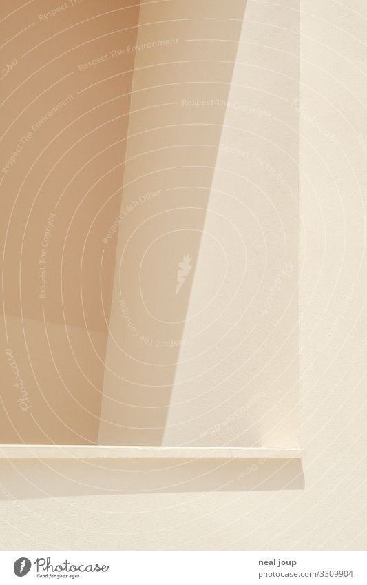 flat design Wall (barrier) Wall (building) Balcony Esthetic Sharp-edged Contentment Design Minimalistic Background picture Flat Sunbeam Subdued colour