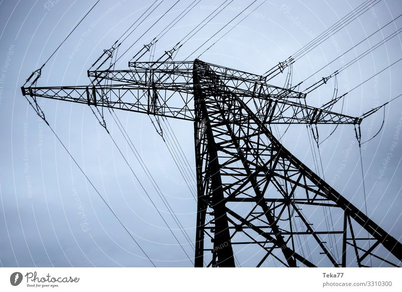 #High voltage pylon #2 Winter Machinery Technology Entertainment electronics Energy industry Renewable energy Industry Esthetic Electricity Electricity pylon