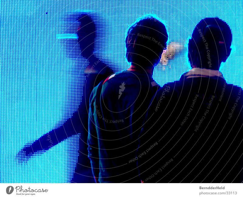 pixels Pixel LCD Large Motion blur Photokina Group Movement Blue Screen Church service