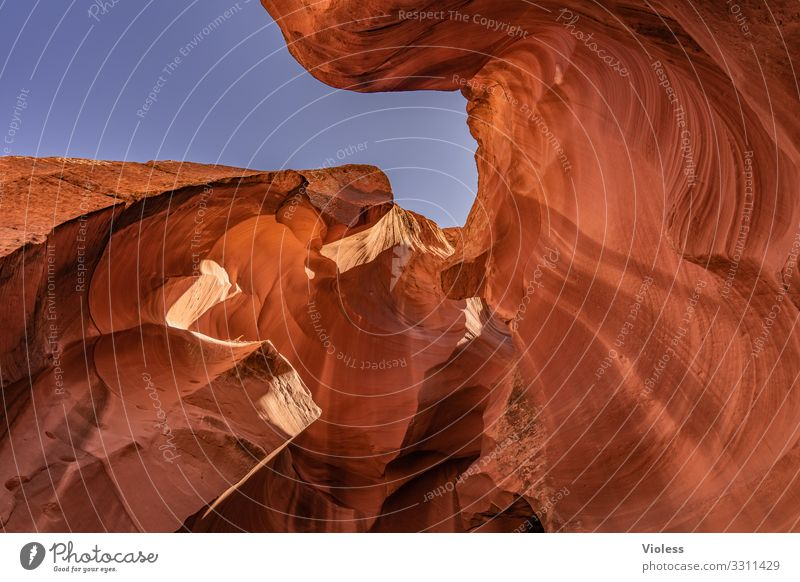 Antelope Canyon, enter Page USA Americas Nature Rock Stone Lake Powel Colour Cave Visual spectacle