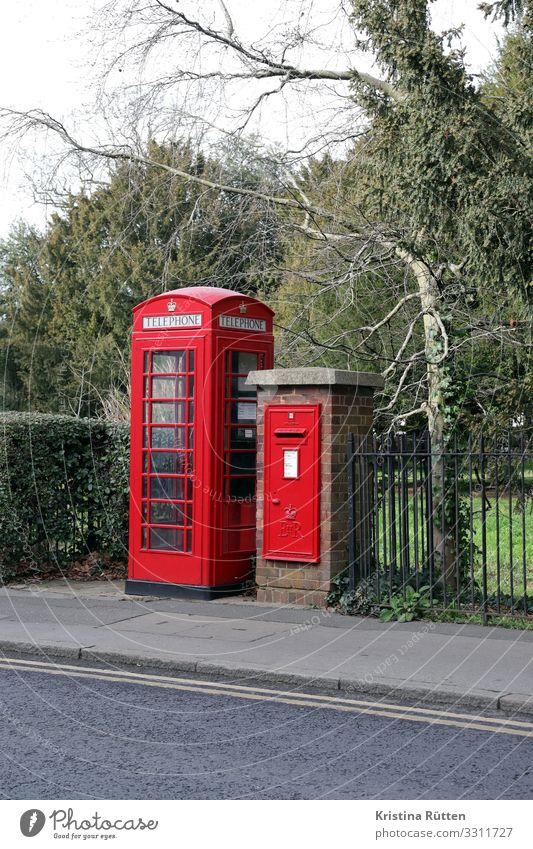 british boxes Tourism Mail Telecommunications Telephone Mailbox Street Write To call someone (telephone) Retro Red Communicate Nostalgia Phone box English