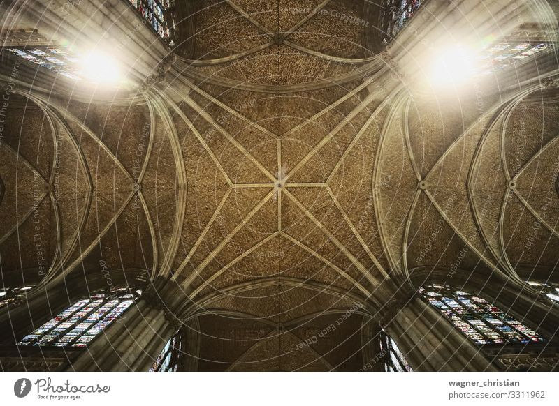 Mariendom, Linz Tourism Church Dome Architecture Tourist Attraction Religion and faith Linz (Danube) Ceiling Gothic Gothic style Belief Light Middle Composing