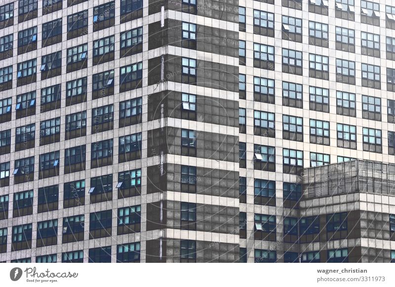 The office Design Office Business High-rise Building Architecture Wall (barrier) Wall (building) Facade Hideous City Background picture Korea Town Gray Window