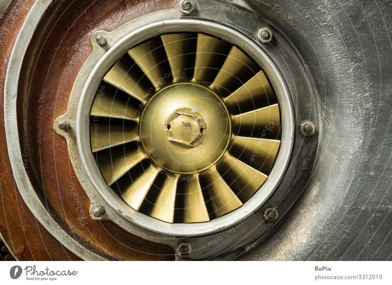 Cooling fan of an engine. Nature Old Lifestyle Environment Business Work and employment Leisure and hobbies Transport Energy industry Technology Esthetic