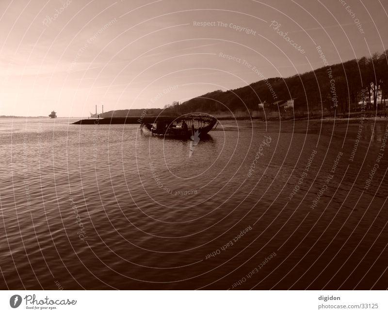 Water Sky Beach Watercraft Sepia Tails