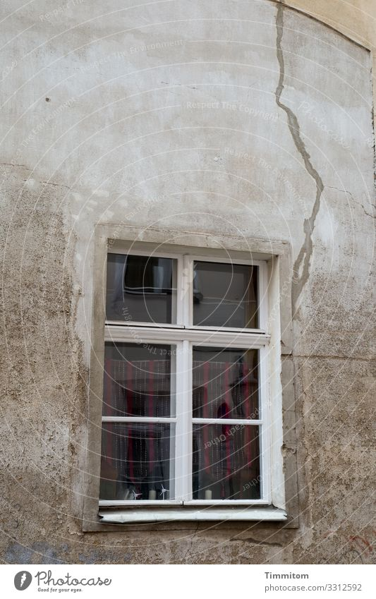 A crack in the wall here too Wall (building) Old Window Crack & Rip & Tear reflection House (Residential Structure) Broken bailer Decline