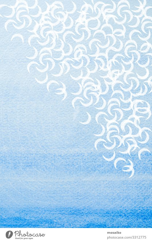 hand drawn design on textured background Blue Colour White Joy Healthy Lifestyle Religion and faith Spring Natural Health care Feasts & Celebrations Style Art
