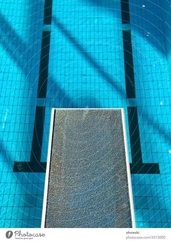 stepping stone Springboard Swimming & Bathing Swimming pool Jump Colour photo Blue Water