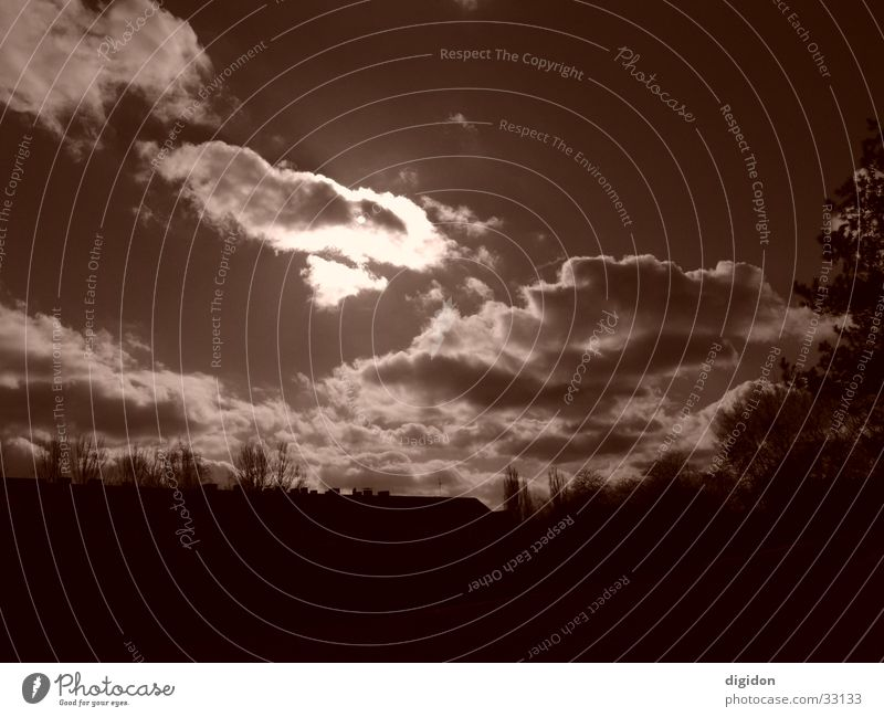 canopy Clouds Brown Sky Sun mask sb./sth.