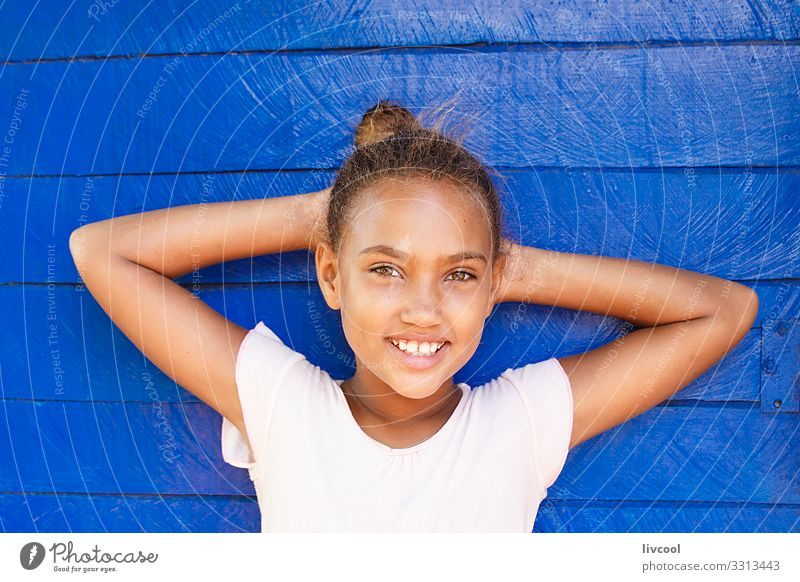 beauty girl , baracoa - cuba Child Human being Vacation & Travel Youth (Young adults) Young woman Blue Beautiful White Face Street Eyes Lifestyle Feminine Happy