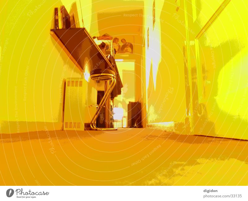Yellow eye Room Wide angle Flat (apartment) Photographic technology Door