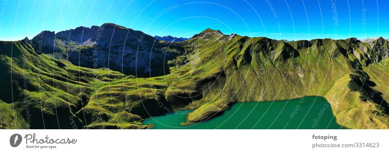 Schrecksee Beautiful Trip Summer Sun Waves Mountain Hiking Nature Landscape Water Alps Lake Tourist Attraction Clean Blue Idyll Environmental protection