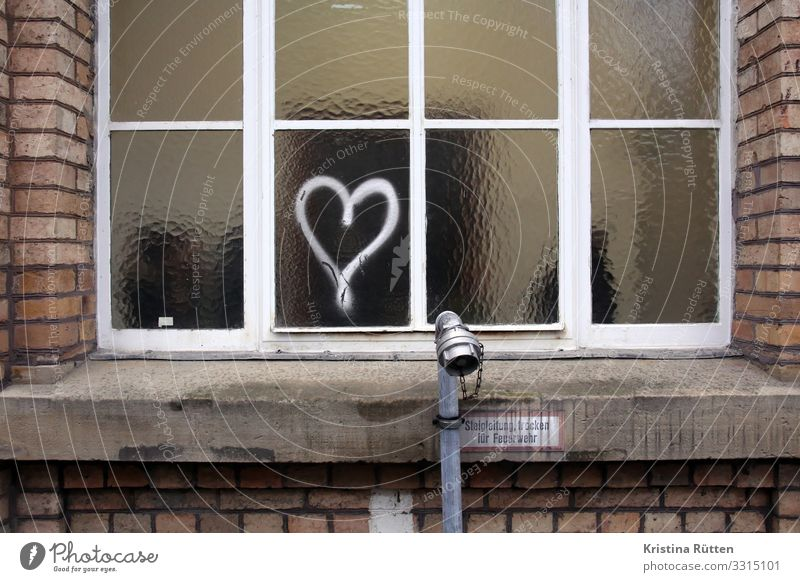 window heart Valentine's Day Wedding Architecture Window Sign Graffiti Heart Love Cute Trashy Sincere Romance Painted Window pane Symbols and metaphors