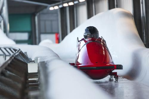 #Eisbob 1 Winter Sports Winter sports Human being Adventure Esthetic Bobsleigh Ice Colour photo Exterior shot