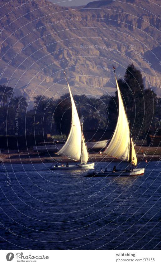 egyypte Watercraft Lake Line (row of words) Contentment egypt sailing