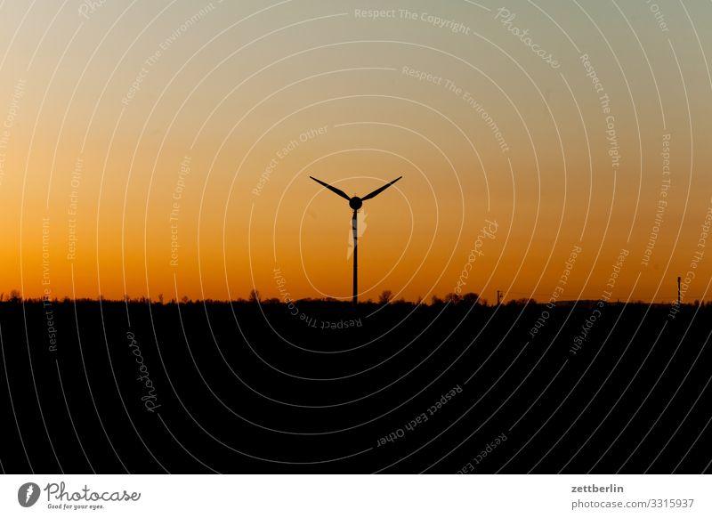 Wind power on the horizon Altenkirchen Village Twilight Far-off places Horizon Island juliusruh Coast Landscape Mecklenburg-Western Pomerania Deserted