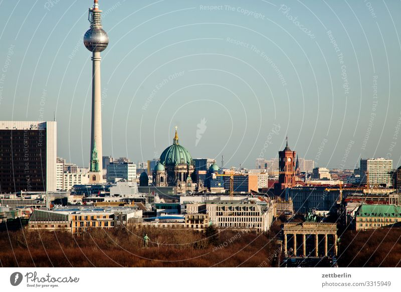Skyline Berlin City Germany Far-off places Capital city Horizon Vacation & Travel Travel photography Town Tourism City life Overview Street Transport