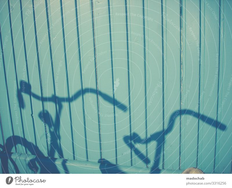 tandem Bicycle Shadow Wall (building) Mobility urban Cycling Exterior shot Means of transport Road traffic Town Driving Transport Cycling tour Movement