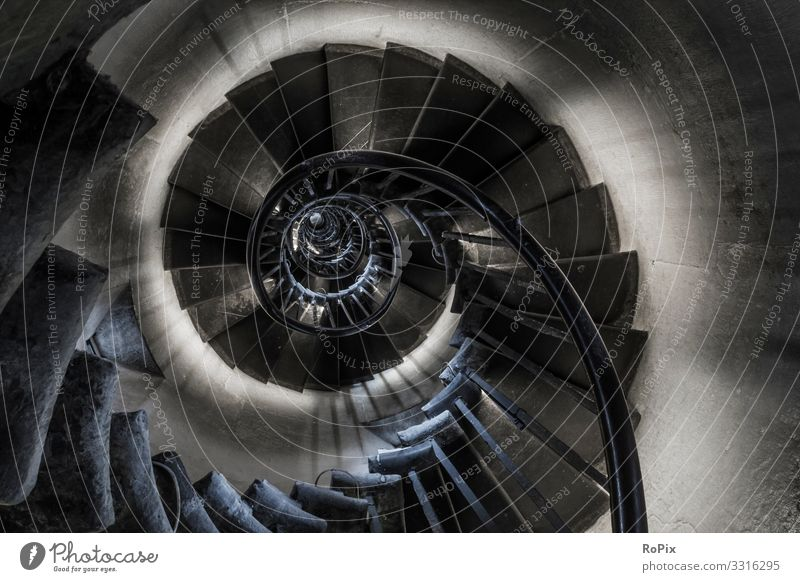 Helical staircase in a lighthouse. Lifestyle Design Fitness Wellness Vacation & Travel Tourism Sightseeing City trip Education Work and employment Profession