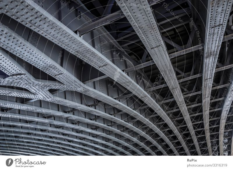 Steel framework of Blackfriars bridge in London. Lifestyle Style Design Vacation & Travel Tourism Sightseeing City trip Science & Research Work and employment