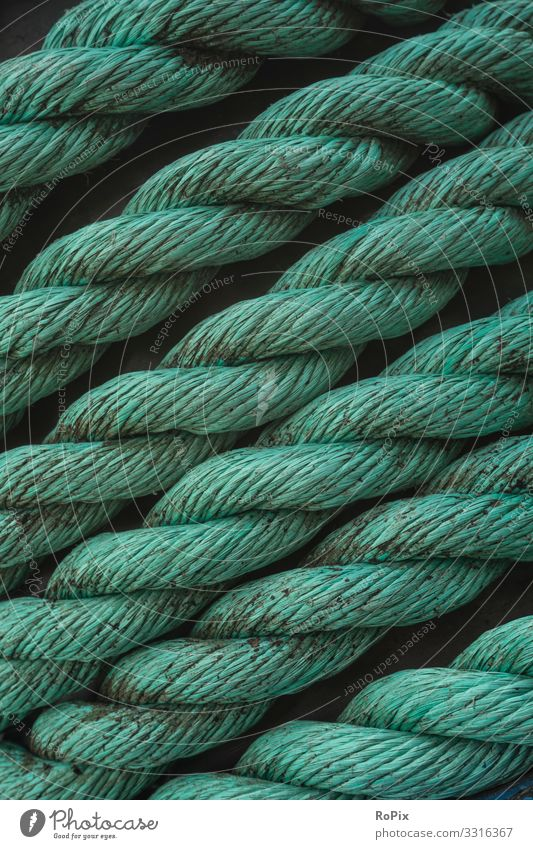 Mooring rope structure. Vacation & Travel Nature Lifestyle Environment Business Tourism Work and employment Design Energy industry Technology Industry Rope