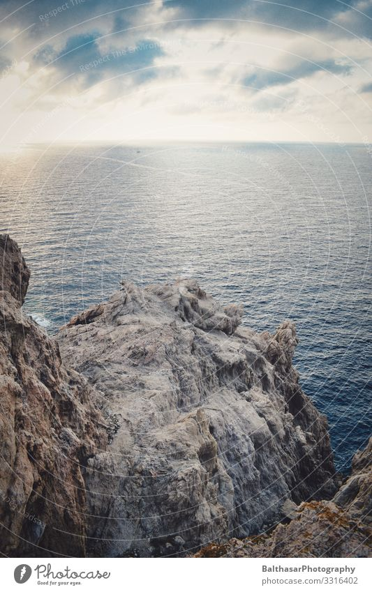 Rocky outcrop (Mediterranean) Vacation & Travel Tourism Summer Summer vacation Ocean Island Environment Nature Elements Water Sky Clouds Beautiful weather
