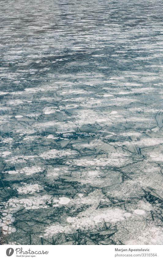Surface of the frozen lake Nature Water Winter Ice Frost Lake River Freeze Cold Natural Blue Moody Environment Frozen Weather Surface of water