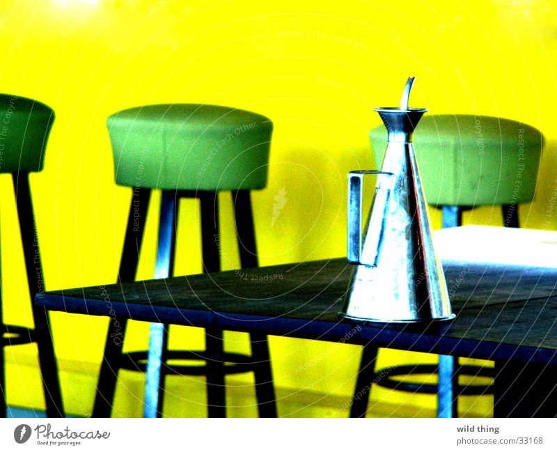 yellow and green Café Restaurant Pub Going out Club